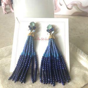 Stella & Dot Beaded Chandelier Earrings